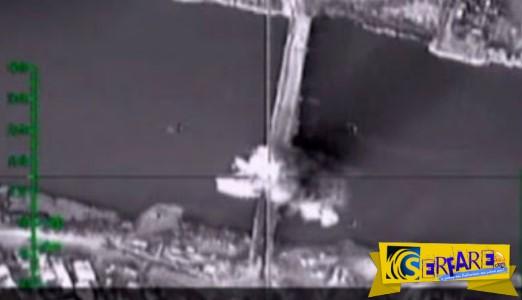 Καταστροφή γέφυρας στον Ευφράτη και… τέλος ο ανεφοδιασμός του ISIS
