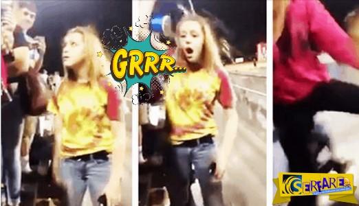 Κοπέλα αδειάζει ένα μπουκάλι νερό στο κεφάλι μιας άλλης μετά από έντονη λογομαχία. Αυτό που ακολουθεί θα σας σοκάρει.