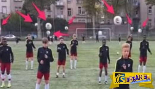 Μια μπάλα δεμένη σε ένα σκοινάκι - Έτσι γίνεται η προπόνηση των νέων στη Γαλλία!
