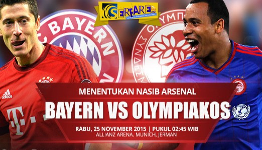Bayern - Olympiacos Live Streaming