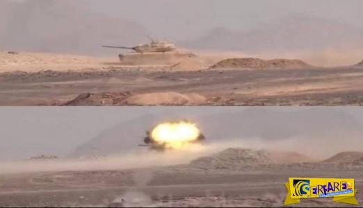 Δείτε πως οι Χούτις ανατινάζουν άρμα μάχης - Νεκροί οι Σαουδάραβες!