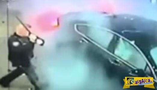 Σώθηκε από βέβαιο θάνατο χάρη στην έγκαιρη επέμβαση των αστυνομικών! Το αμάξι της δεν είχε την ίδια τύχη…