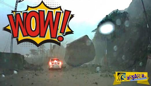 Ο πιο τυχερός… οδηγός που έχετε δει - Δείτε από τι γλίτωσε ...