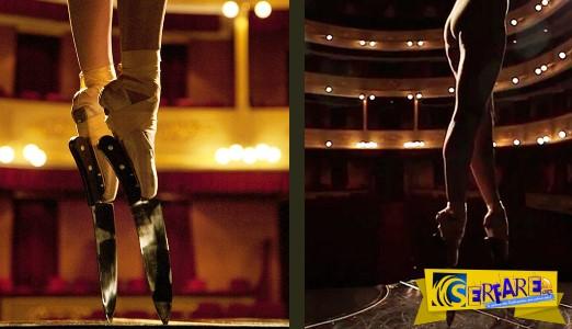 Η μπαλαρίνα που χόρεψε πάνω σε πιάνο φορώντας παπούτσια με κοφτερά μαχαίρια!