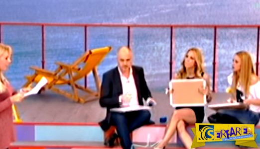 Το μίνι φόρεμα με το σκίσιμο δυσκόλεψε την Ντορέττα αλλά έδωσε ...πρωινή χαρά στους τηλεθεατές!