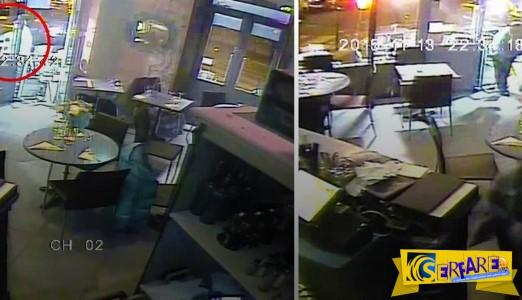 Βίντεο-σοκ: Η στιγμή της επίθεσης τρομοκράτη σε εστιατόριο στο Παρίσι