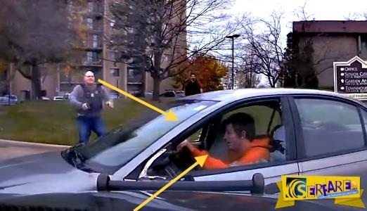 Δείτε πως κατάφερε να ξεφύγει από τους αστυνομικούς ένας κλέφτης αυτοκινήτων!