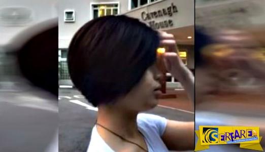 Τα μαλλιά της κοπέλας είναι μαύρα - Όταν τα τινάζει, γίνονται πολύχρωμα!