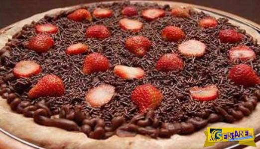 """Πίτσα σοκολάτα: Το γλυκό σε """"τρελαίνει"""""""