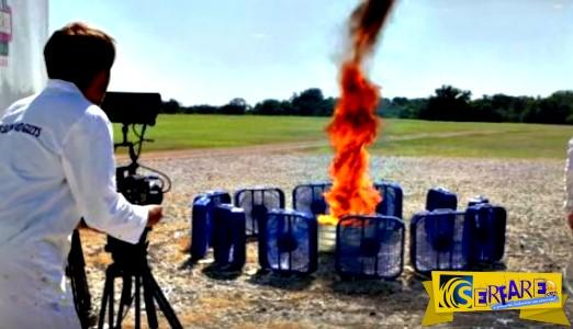 Δημιούργησαν έναν τεχνητό ανεμοστρόβιλο με φωτιά!