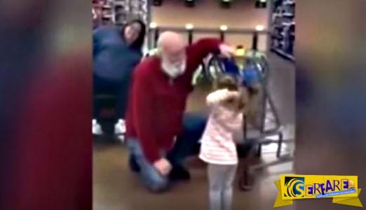 Το κοpιτσάκι νόμιζε πως αυτός ο άνδρας ήταν ο Άγιος Βασίλης - Όταν δείτε τι ακολούθησε θα συγκινηθείτε!