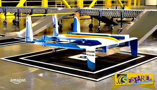 Απίστευτο! Η Amazon κάνει delivery προϊόντων με drone στο σπίτι σας!