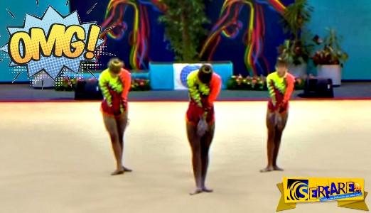 Τρεις αθλήτριες αρχίζουν να χορεύουν. Δείτε όμως τι κάνει αυτή στα δεξιά!