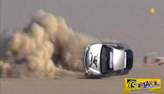 Δείτε τι γίνεται όταν οδηγός που τρέχει με 300 χλμ την ώρα χάνει τον έλεγχο του αυτοκινήτου του!