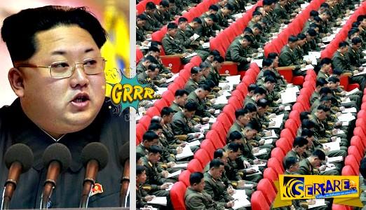 Bόρεια Κορέα: Τους πήρε ο ύπνος κατά την διάρκεια της ομιλίας του Κιμ Γιονγκ Ουν! Κοιμούνται και η... τύχη τους δουλεύει ...