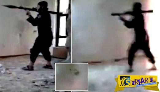 Η απελπιστική προσπάθεια μαχητή του ISIS να χρησιμοποιήσει ένα RPG