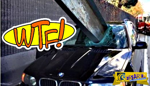 Κι όμως, ο οδηγός τη γλίτωσε... μόνο με μια γρατζουνιά!