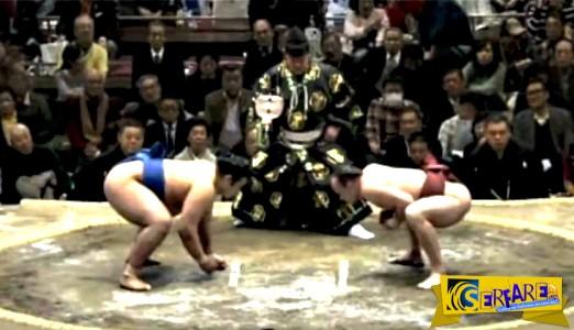 Δεν θέλει κόπο αλλά... τρόπο: Πανέξυπνη κίνηση από παλαιστή Sumo!