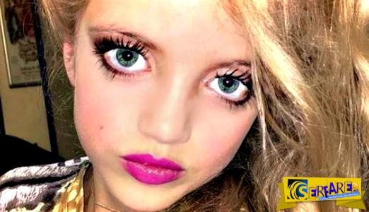 Σάλος στο διαδίκτυο με την 8χρονη προκλητικά βαμμένη κόρη της …