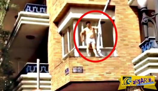 Ο σύζυγος μπαίνει από την πόρτα, ο εραστής το σκάει από το παράθυρο!