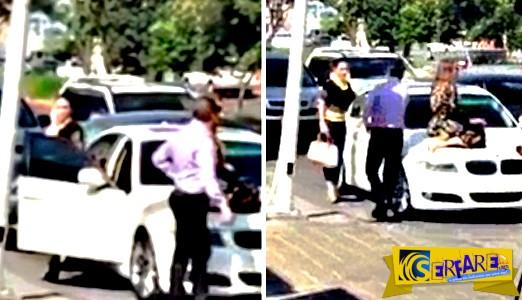Ανέβηκε στο αυτοκίνητο για να μην φύγει ο σύζυγός της με την ερωμένη! - Σκηνές απείρου κάλλους στη μέση του δρόμου ...