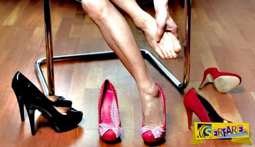 Τα προβλήματα που δημιουργούν στα πόδια σας τα ψηλά τακούνια!