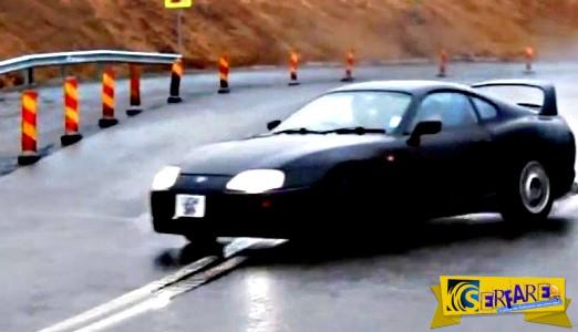 Υπερθέαμα: Δείτε το εντυπωσιακό drift στη βροχή από ένα Τoyota Supra!