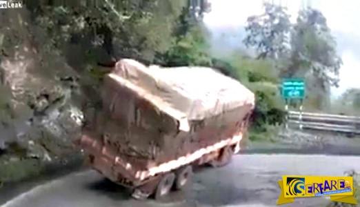 Η πιο αστεία ανατροπή φορτηγού που έγινε ποτέ!