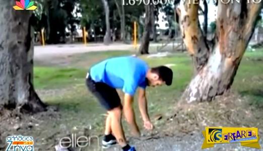 Ο Έλληνας άνθρωπος-αλυσοπρίονο, που έχει πάνω από 1,7 εκ. προβολές στο YouTube