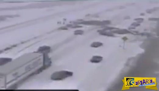 Η μεγαλύτερη καραμπόλα που έχετε δει – Συγκρούστηκαν 72 (!) αυτοκίνητα