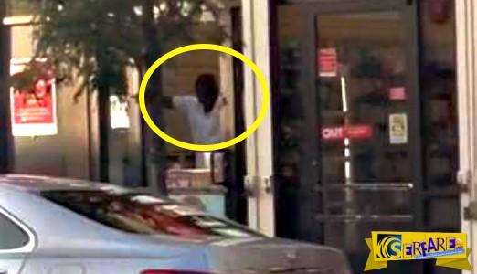 Κλέφτης για να γλιτώσει έσπασε το τζάμι με το κεφάλι του!