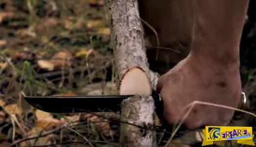 Κόβει μέχρι και κορμούς δέντρων! – Αυτό είναι ίσως το πιο κοφτερό μαχαίρι που έχετε δει ...