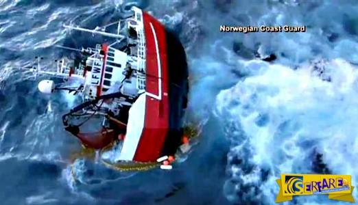 Δραματική διάσωση Νορβηγών ψαράδων σε παγωμένα νερά