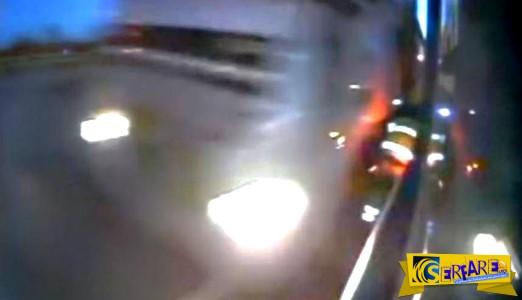 Η τύχη που είχε ο συγκεκριμένος οδηγός φορτηγού δεν έχει προηγούμενο!