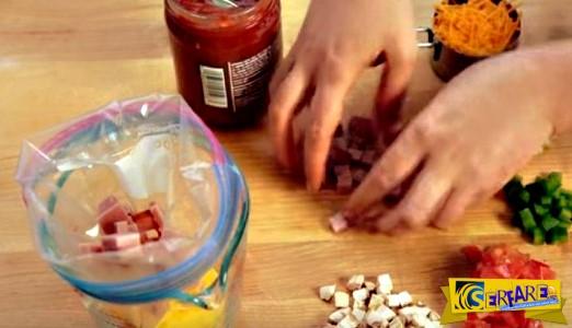 Φτιάξτε ομελέτα στο... σακούλι - Έξυπνος τρόπος για εύκολο μαγείρεμα!