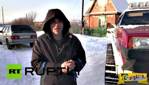 Τρελός Ρώσος μετέτρεψε το Lada του σε τάνκ! Απίστευτο ...