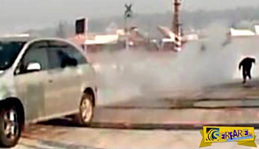 Δείτε πώς ένας οδηγός κατάφερε να ξεγελάσει τον θάνατο