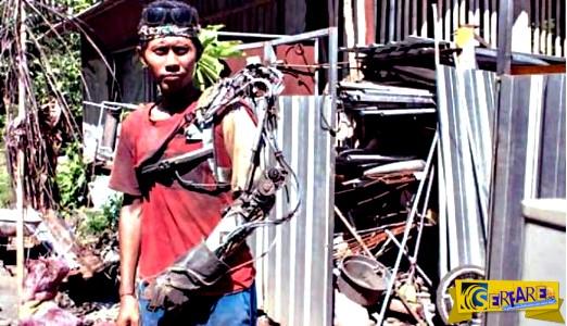 Άνδρας από την Ινδονησία ισχυρίζεται πως έφτιαξε μόνος του βιονικό χέρι!