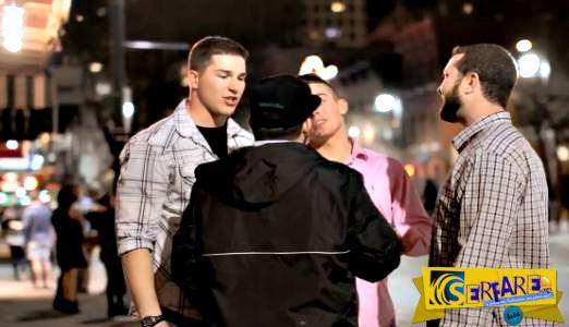 Δύο άντρες παρενόχλησαν την κοπέλα του και τους έκανε ασήκωτος και τους δύο!
