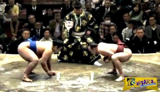 Πανέξυπνη κίνηση από παλαιστή Sumo - Δείτε τι έκανε ...