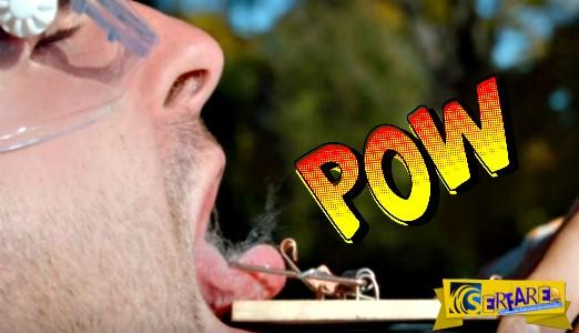 Συγκλονιστικό βίντεο: H γλώσσα αυτού του άνδρα πιάστηκε σε ποντικοπαγίδα!