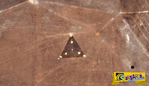 Μυστήριο με ισοσκελές τρίγωνο στη μέση μιας αχανής περιοχής της Αυστραλίας!