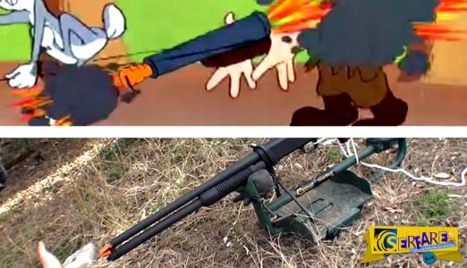 Τι θα συμβεί αν πυροβολήσεις με μια καραμπίνα βουλωμένη με καρότο όπως στο Bugs Bunny!