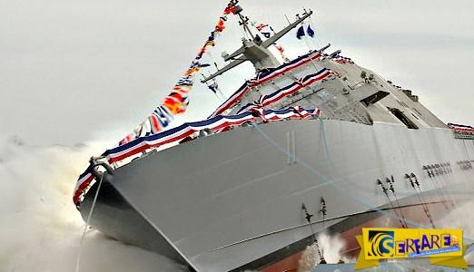 Εντυπωσιακή καθέλκυση Πολεμικού Πλοίου!