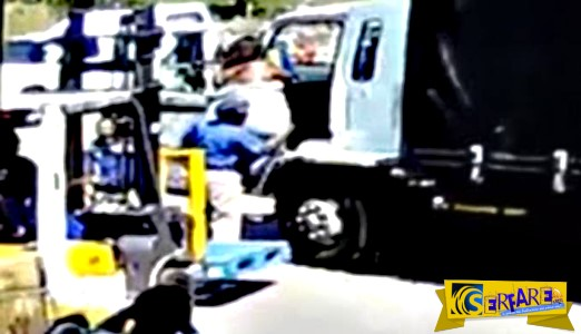 Χρησιμοποίησαν κλαρκ για να ανεβάσουν μια τροφαντή γυναίκα στο φορτηγό!