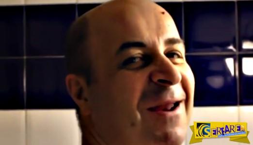 Ο Μάρκος Σεφερλής ξυρίζει το στήθος του και προσφέρει γέλιο!