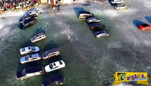 Πάρκαραν σε μια παγωμένη λίμνη - Έκαναν όμως ένα μεγάλο λάθος…