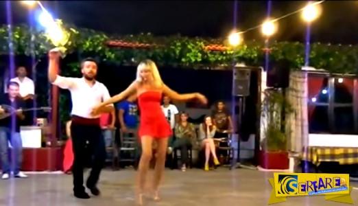 Υπέροχη Ρωσίδα σηκώθηκε για τσιφτετέλι και ξετρέλανε ακόμα και τον τραγουδιστή!