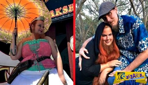 Ένα ασυνήθιστο ζευγάρι: Το αγόρι - αστακός ερωτεύτηκε τη γυναίκα με το μούσι!