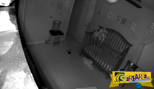 Νόμιζαν ότι το μωρό τους είναι δαιμονισμένο - Κοιτάξτε τι κατέγραψε η κάμερα μέσα στο δωμάτιο!